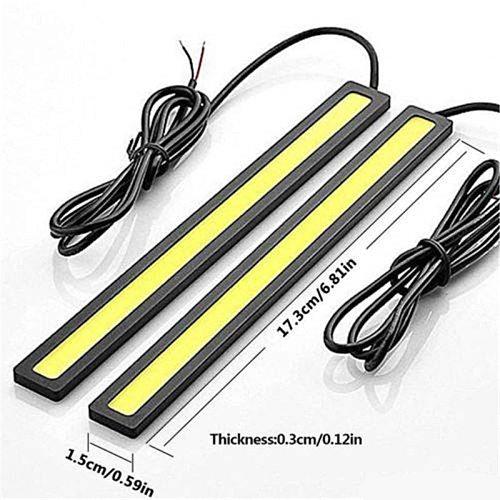 4 pcs New 17cm LED COB Daytime Running Light Waterproof DC12V Car Light Source Parking Fog Bar Lamp strip