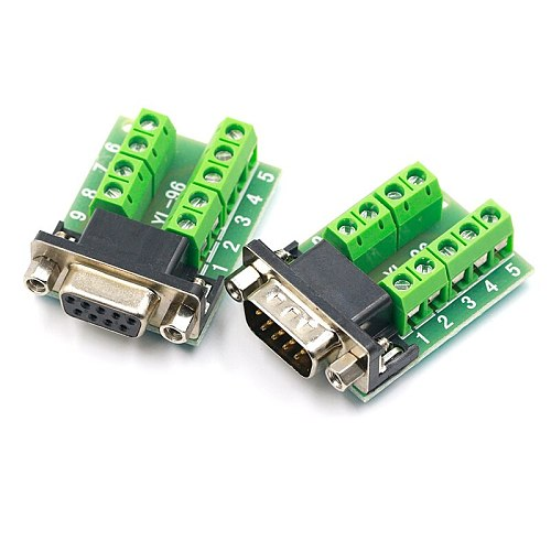 DB9 Male Female Adapter Signals Terminal Module RS232 Serial To Terminal DB9 Connector