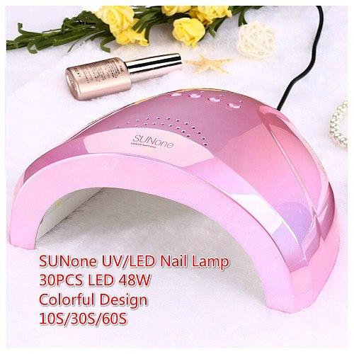 New Colorful 48W SUNONE Professional LED UV Nail Lamp For Nail Gel Polish Led Nail Light Nail Dryer UV Lamp