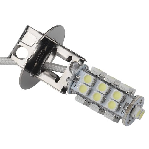 ICOCO Pure White Aluminum Alloy H3 3528 SMD 26 LED Xenon Head Fog Light Headlight Bulb Lamp Lighthouse 6000K 5W 2400LM New
