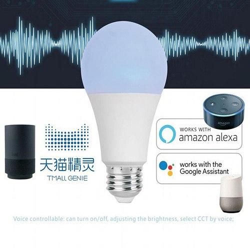 E27 Led Intelligent Light Bulb9wAn Energy-Saving Light-BulbWifiMobile Phone Control Smart Home Compatible With Google