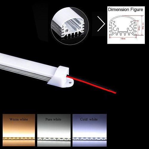 Slim LED Light Bar Single Row 12V DC LED Strip Light Bar For Cabinet Shelf Energy Saving LED Fluorescent Tubes Warm Cold White