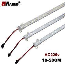 5pcs LED Bar Light AC220v High Bright 4W 5W 8W SMD2835 LED Rigid Strip with PVC Cover 10 20 30 50cm LED Fluorescent Tube lights