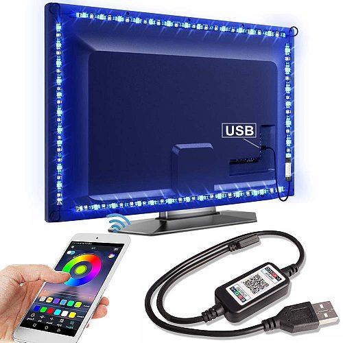 Bluetooth RGB LED Strip Light SMD5050 5M 1M 2M 3M 4M 0.5M Diode Tape Flexible Neon Ledstrip Ribbon LED Strip USB 5V TV Backlight
