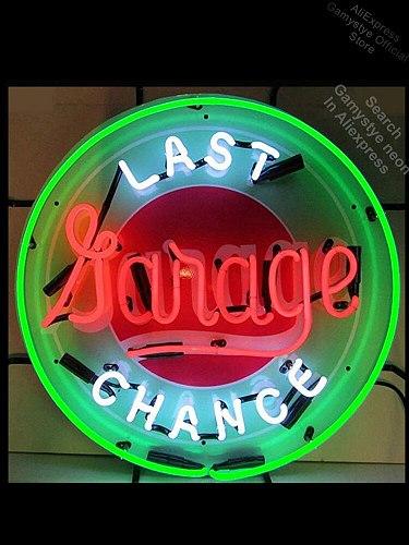 Neon Sign Last Chance Garage neon Light Sign Brand Beer Bar Pub Sign Neon Lichtbak neon sign logo Tube Neon Shop Neon Sign Tube