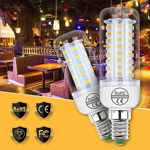 220V E27 LED Corn Lamp E14 LED Bulb 3W 5W 7W 9W 12W 15W Candle Light GU10 Bulb 5730 G9 Corn Light B22 Household Bright Lighting