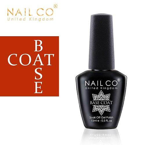 NAILCO Base And Top Coat Gel Nail Polish 15ml UV LED Lamp Semi Vernis Permanent Nail Art Soak off Hybrid Varnishes