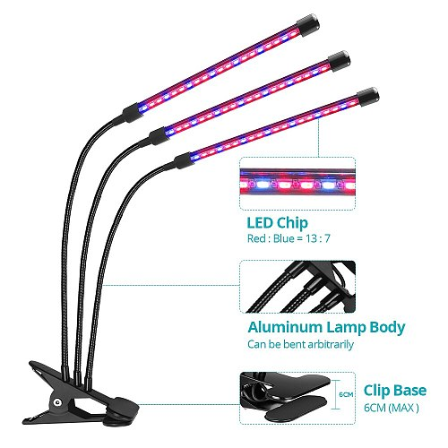 USB LED Grow Light Full Spectrum Desktop Clip Phytolamps 9W 18W 27W Phyto lamp for plants Flower Greenhouse Hydroponic