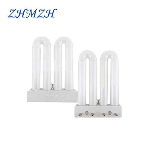ZHMZH Double U Type Indoor Lighting 6500K 4 Pins Fluorescent Light Energy Saving Desk Lamp Tubes Fluorescent Lamp Tube 9W