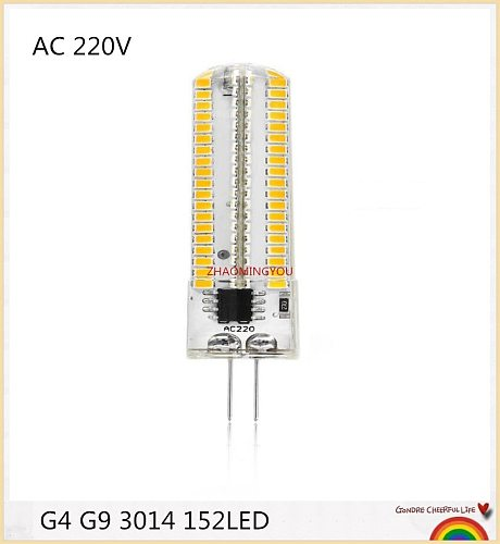 G4 G9 GY6.35 LED 152LEDs Dimmable Bulb 110V 220V Light SMD 3014 Chandelier Spotlight Replace 15W Compact Fluorescent Lamp