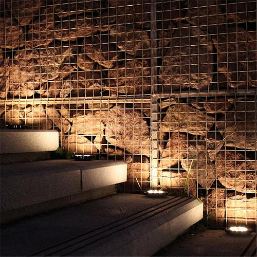 1/4 Pcs LED Solar Power Ground Light Flat Buried Light Outdoor Waterproof Energy-saving Garden Durable Path Decoration Lamp