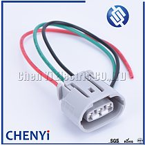 3pin 090 TS Alternator Auto Wire connector Electrical Headlight Plug 6189-0443 For Toyota Lexus 6188-0282 6189-0442 With harness