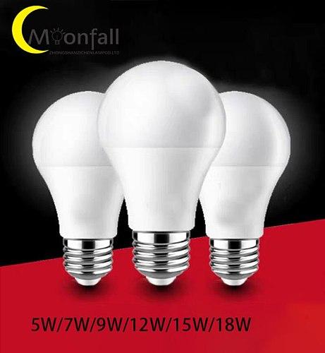 Moonfall-E27 B22 LED Light Bulb 5W 7W 9W 12W 15W 18W Lampada LED Bulb AC220V 230V 240V LED Lamp Energy Saving Bombillas LED Bulb