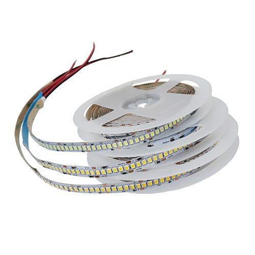 DC 5V 12V 24V SMD 2835 Led Strip Light 5m White LED Strip Tape Not Waterproof Lamp Light Strips Kitchen Home Decor TV Ledstrip