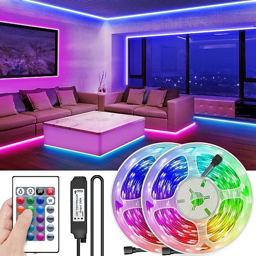 RGBWW LED Strip Light RGB 5050 SMD 2835 Flexible Ribbon fita led light strip RGB 5M 10M 15M Tape Diode