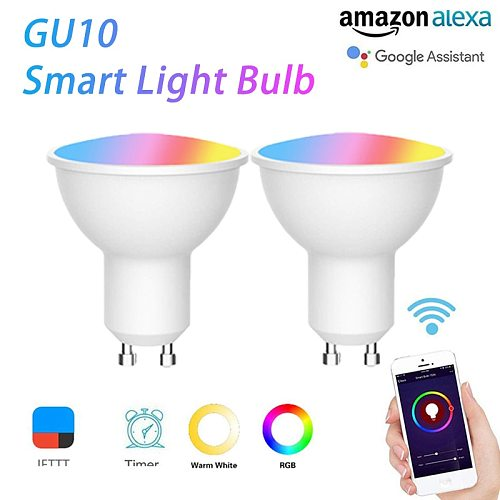 5W RGB+CW GU10 WiFi Smart Bulb LED Lamp Cup Work With Alexa Amazon Google Home Remote Voice Control Smart Home Smart Life