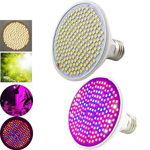 200 Led Full Spectrum Plant Grow light Growth Lamp LED Bulbs Vegetable growbox Tent Lighting Greenhouse E27 Socket