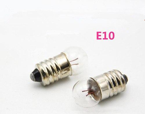 Instrument small lamp beads E10 1.5V E10 2.5V small bulb signal lamp bead E10 6.0V flashlight bulb 10pcs /lot