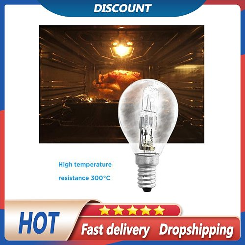 In-stock 42W E14 220V Oven Lamp High Temperature 300 Degree Oven Lamp Halogen Bulb For Household Supplies