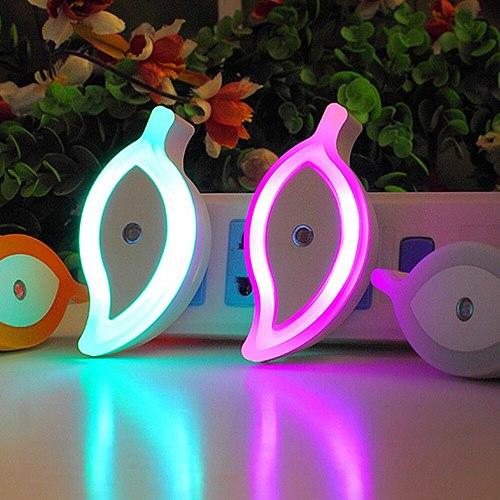 US/EU plug leaf shape energy-saving light control night light LED sensor light smart home night light baby bedroom lamp
