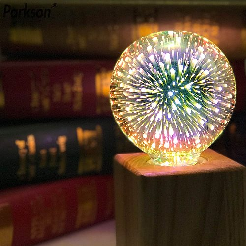 3D Star 220V E27 LED Edison Light Bulb Lampada ST64 A60 G80 G95 G125 Diamond Heart Shape Holiday Christmas Decoration LED Lamp