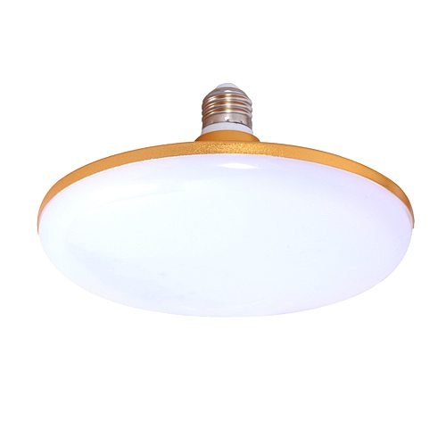 Energy saving Lamp E27 interface 220V Gold UFO light Super bright 15W  36W 70WLED bulb Aluminum alloy body Living beding rooming