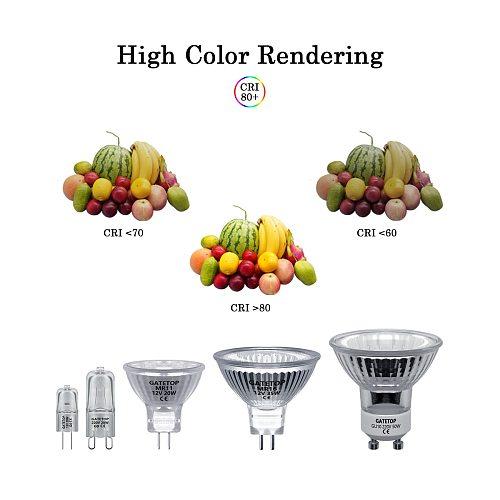 Hot Sale Halogen Lamp 20W 30W 35W 50W GU10 MR11 MR16 220-240V 12V Crystal Chandelier Home Decoration GU5.3