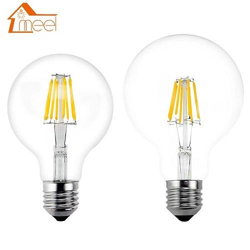 LED Bulb E27 Retro Lamps 220V 240V LED Filament Light G80 G95 G125 Glass Ball Bombillas LED Bulb Edison Candle Light 4W 6W 8W