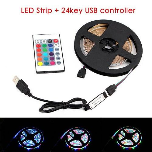 5V RGB LED Strip Light,USB 5 V PC TV Backlight,2835 1 - 5 M 5 V Volt USB Led Strip,RGB Lights Lamp Tape Diode Ribbon