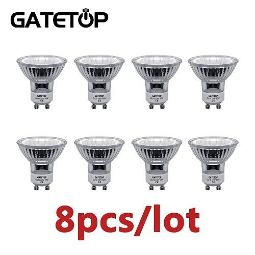 Hot Sale Halogen Lamp 50W 8pcs/Lot GU10 220-240V Crystal Chandelier Home Decoration Glass Bulb
