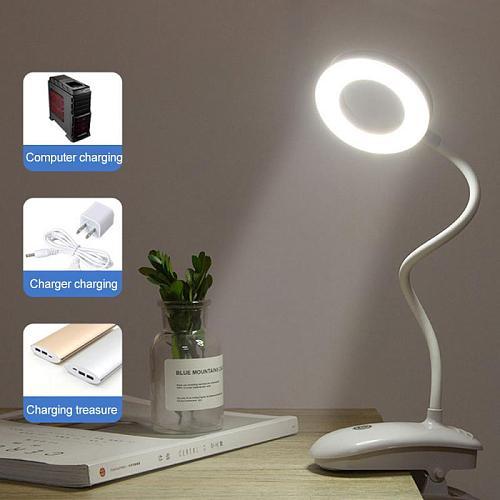 USB Table Lamp Led Desk Lamp Touch Clip Study Lamps  Gooseneck Desktop Usb Table Light Rechargeable