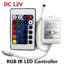 DC 12V RGB IR Remote Controller 24 Keys LED Driver Dimmer For LED Strip light SMD 2835/3528/5050/5730/5630/3014