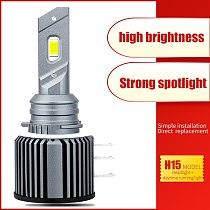 2pcs Canbus Error Free Led H15 Headlights CSP Chips For Golf 7 dedicated 6000K 12000LM Fog Light Automobile 12v Bulb