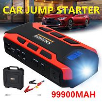 99900mAh Car Jump Starter Car Buster 12V Vehicle Emergency Battery Auto Booster Battery Starter Power Bank Powerful LED Light
