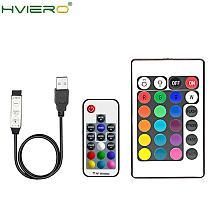 USB RGB Light Strip USB RF Remote Control LED Light Strip USB 3 11 17 24 Wireless Remote Key