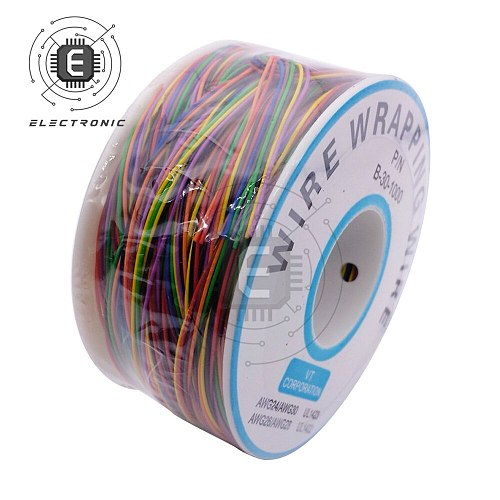 One Roll 280m 30AWG Wrapping Wire Tin Plated Copper Solid Cable Breadboard Jumper Insulation Electronic Conductor Wire Connector