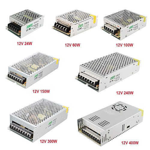 led power supply 12v 5v 24v lighting transformer psu 60W 100W 200W 300W switching adapter driver for projector led light cctv