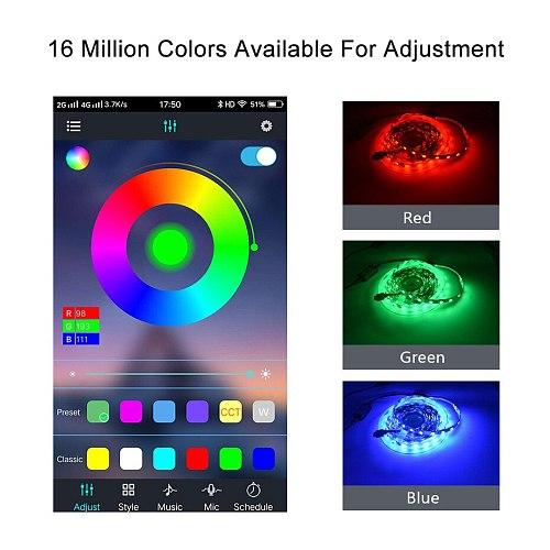 Mini Dimmer Led Controller RGB 5V-24V USB Color Music For Magic Home Smart Strip Lights 5050