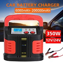 350W 14A Portable Automatic Car Battery Charger Adjust LCD Smart Fast Power Charging for car motorcycle 12V-24V Car Jump Starter