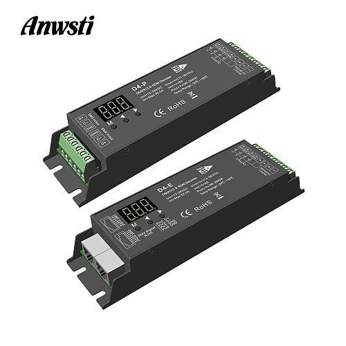 DMX Decoder 12V 24V 36V DC 8A 1152W 4 Channel Constant Voltage CV DMX512 RDM Decoder 4CH for RGBW LED Strip Light D4-E D4-P