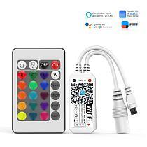 50PCS RGB Wifi Controller 24 Keys 4P WiFi Led Strip Music Controller Magic Home 5V 12V 24v Google Assistant Alexa