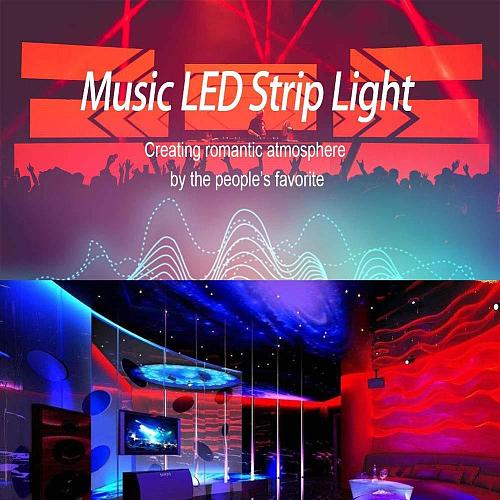 Music Controller 44Key 20Key IR Remote Music Sync Voice Control DC12V/24V Timing Function for Party 5050 3528 RGB LED Strip