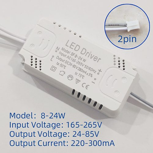 LED Driver Adapter For LED Lighting 8-24W 30W 36W 50W 60W 80W AC220V Non-Isolating Transformer For LED Ceiling Light Replacement