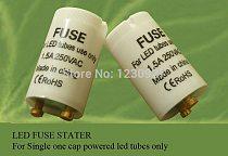 free shipping 10pcs/lot  1.5A LED Fuse starter used  for led tube single one end cap powered led tube fuse starter