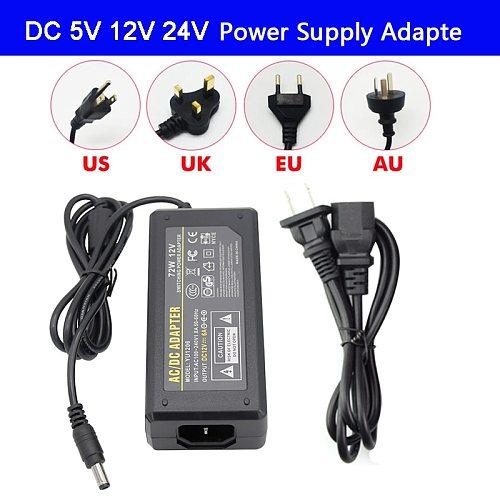 LED Adapter Power Supply DC5V / DC12V DC24V 1A 2A 3A 5A 7A 8A 10A For led strip lamp lighting led power driver plug