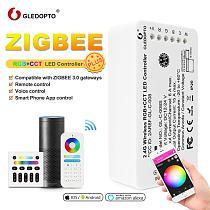 GLEDOPTO Zigbee RGB LED Controller Plus Warm  Cold White Work with Smartthings Tuya Conbee Alexa Echo Plus Voice Remote Control