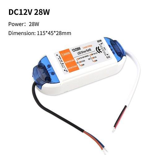 LED Transformer 220V TO 12V LED Driver AC DC Power Supply Adapter 12V 18W 28W 36W 48W 72W 100W LED Driver Lighting Power Supply