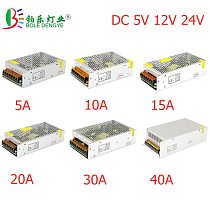 LED Power Adapter Lighting Transformer AC 100V-240V To DC 5V 12V 24V Switching Power Supply 1A 2A 3A 5A 10A 20A 30A LED Driver