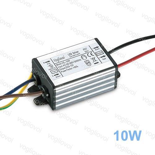 Vogliovoi Led Driver 10W 20W 30W 50W 100W AC110-260V Silver Aluminum Waterproof  IP65 For Floodlight HighBay Blub DIY