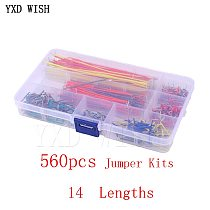 560pcs Jumper Wire Kits 14 Lengths Breadboard Lines Circuit Board Jumpers U Shape Cable Kit For Arduino Bread Board Diy Cables